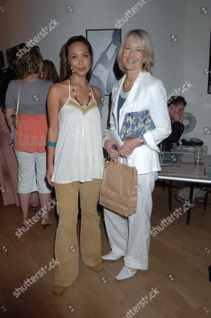 The Sixties Set an Exhibition of Photographs by Robin Douglas-home at the Air Gallery Dover Street London Mylene Klass with Sandra Howard