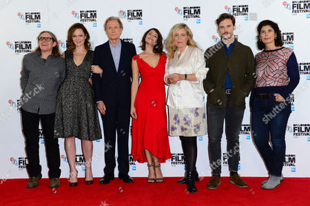 London UK 13th October 2016: Stephen Woolley, Rachael Stirling, Bill Nighy, Gemma Arterton, Lone Sherfig, Sam Claflin and Producer Amanda Posey at the Photocall For 'their Finest' at the Mayfair Hotel During the Bfi London Film Festival On the 13th October, 2016