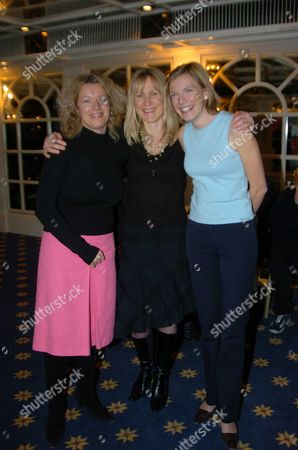 Triathlon Launch Party at the Park Lane Hilton Hotel in Aid of the Leukaemia Reserach Fund Fiona Miller with Her Triathlon Team Jo Gibbons and Harriet Quinlan