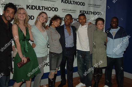 Uk Premiere of 'Kidulthood' at the Odeon West End Ray Panthaki Rebecca Martin Madelaine Fairley Red Madrell Aml Ameen Noel Clarke Jaime Winstone and Femi Oyeniran