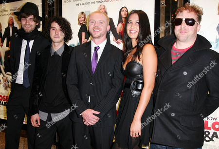 24 09 2008 World Premiere of 'How to Lose Friends and Alienate People' at the Empire Leicester Square Guillemots - Fyfe Dangerfield Mc Lord Magrao Aristazabal Hawkes Greig Stewart and Simon Pegg