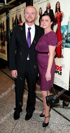 24 09 2008 World Premiere of 'How to Lose Friends and Alienate People' at the Empire Leicester Square Simon Pegg with His Wife Maureen Mccann