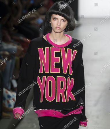 Editorial photo of Jeremy Scott show, Runway, Spring Summer 2017, New York Fashion Week, USA - 12 Sep 2016