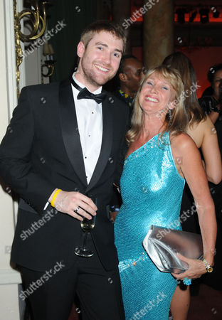 Press Night Party For 'Gone with the Wind' at the Waldof Hotel Aldwych London Jan Leeming with Her Son Jonathan