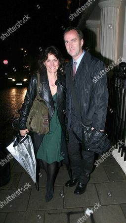 1st Night of 'The Last Confession' at the Theatre Royal Haymarket London Angus Deayton and Lise Mayer