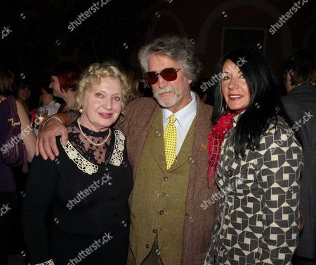 Elle Decoration Awards at the Wallace Collection Hertford House Justin De Villeneuve with His Wife Sue and Celia Birtwell