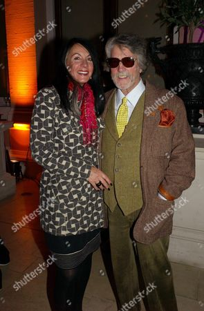 Elle Decoration Awards at the Wallace Collection Hertford House Justin De Villeneuve with His Wife Sue