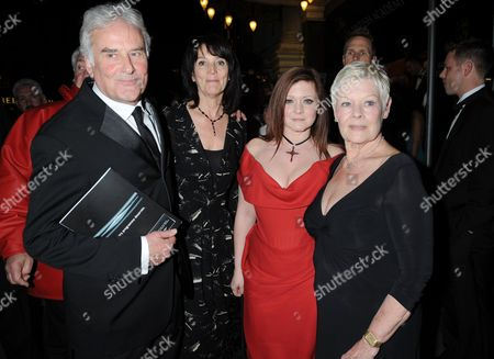 50th Bafta Television Awards Afterparty at the Grosvenor House Hotel Sir Richard Eyre with His Wife and Dame Judi Dench with Her Daughter Flinty Williams