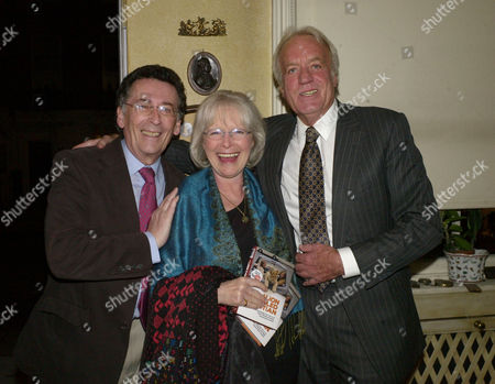 A Lion Called Christian Book Launch at A Private Home in Chapel Street Belgravia London John Rendall (r) with Robert & Babs Powell
