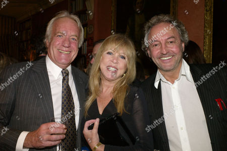 A Lion Called Christian Book Launch at A Private Home in Chapel Street Belgravia London the Books Author John Rendall (l )with Patti Boyd & Rod Weston
