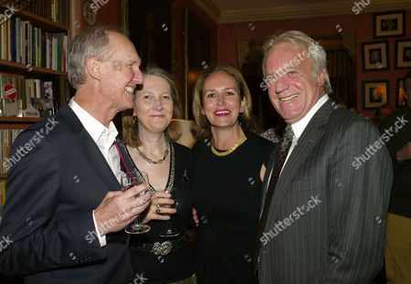 A Lion Called Christian Book Launch at A Private Home in Chapel Street Belgravia London the Books Authors Anthony Bourke (l) and John Rendall (r)with Their Agents Alexandra Henderson & Caroline Michel ( Lady Evans)