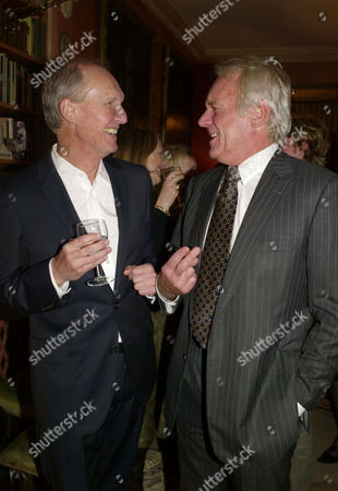 A Lion Called Christian Book Launch at A Private Home in Chapel Street Belgravia London the Books Authors Anthony Bourke (l) and John Rendall (r)