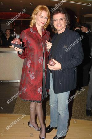 Afterparty Following the Press Night For 'Mack and Mabel' at the Criterion Theatre at Cocoon Regent Street Leigh Zimmerman with Her Husband Domenick Allen