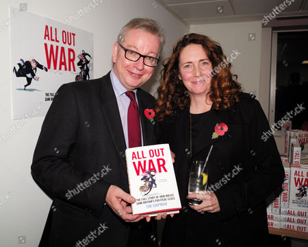 London UK 1st November 2016: Michael Gove Mp with Rebekah Brooks at the Book Launch of All out War by Tim Shipman at Policy Exchange, London, UK. Photo: