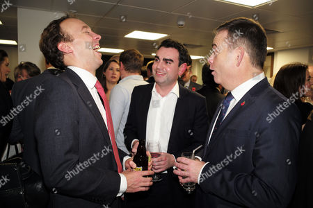 London UK 1st November 2016: Matt Hancock Mp & Nigel Adams Mp at the Book Launch of All out War by Tim Shipman at Policy Exchange, London, UK. Photo: