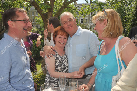 60th Birthday Party Fulham Hazel Blears with Her Husband Michael Halsall and Kevin Mckenzie with His Wife