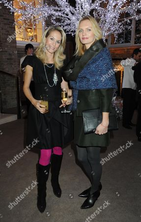 Stock Picture of Apreys Store Christmas Party in Their Old Bond Street Store London Amandine Mellon & Urte Halabi