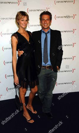 Emporio Armani One Night Only at Earls Court London Jacquetta Wheeler with Her Husband Alexi Lubomirski