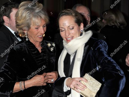 the Cartier Racing Awards at the Ballroom of the Grosvenor House Hotel Park Lane the Duchess of Marlborough and Princess Zahra Aga Khan