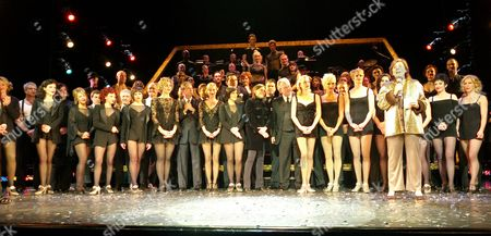 Chicago 10th Anniversary Performance at the Cambridge Theatre and Party at Sound Leicester Square Curtain Call - the Producers Barry and Fran Weissler with the Cast