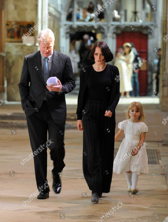 Christening of Sasha Filgueiras De Castilho Blow at Gloucester Cathedral by Nick Bury Dean of Gloucester Followed by Lunch at Hilles Harescombe Gloucestershire Lady Bianca Eliot & Earl Charles Spencer