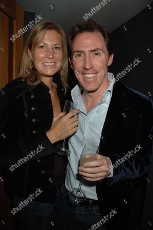 Party Following the Premiere of Cock & Bull Story at Soho House Old Compton Street London Rob Brydon & Claire Holland