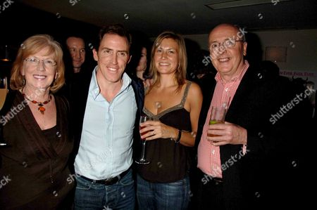 Stock Photo of Party Following the Premiere of Cock & Bull Story at Soho House Old Compton Street London Rob Brydon & Claire Holland and His Parents