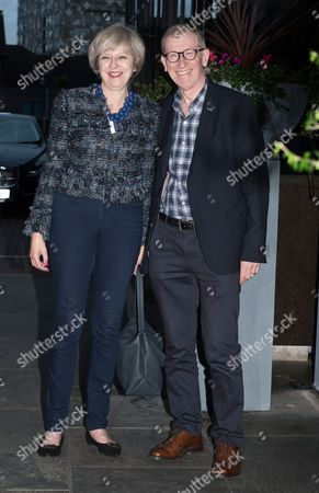 Birmingham, UK 1st October 2016: Theresa May and Philip John May Arrive For the Conservative Party Conference at the Hyatt Hotel the Prime Minister and Her Husband Arrive Todays Her 60th Birthday. 1st October 2016.