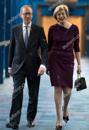 Birmingham, UK 5th October 2016: Theresa May and Philip John May Arriving at the Icc For the Prime Ministers Speech Closing the Tory Party Conference, Birmingham, England. 5th October 2016.
