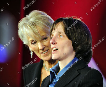 The 2007 Costa Book Awards at the Intercontinental Hotel Hamilton Place Park Lane London Joanna Trollope Chairman of the Judges with the Winner A L Kennedy