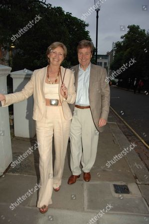 Annual Summer Garden Party in Carlyle Square Chelsea Sue Lawley with Her Husband Hugh Williams