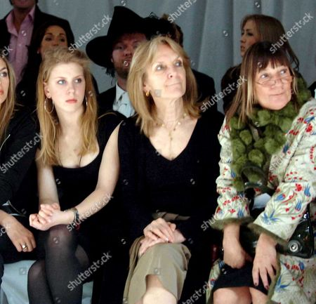 Stock Picture of Fashion Show at Chelsea Football Club Anna Harvey with Her Daughter and Hilary Alexander