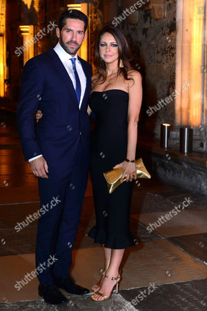 London, England 24th October 2016: Scott Adkins and Wife Lisa Adkins at the Red Carpet Launch of the Latest Marvel Comic Book 'doctor Strange' in London On the 24th October 2016.