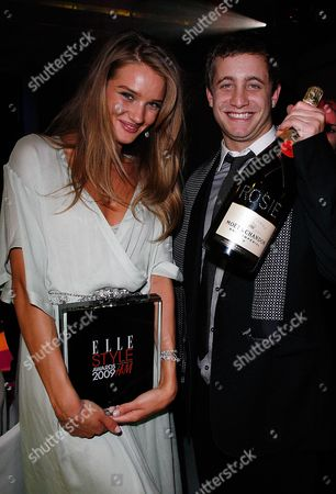Elle Style Awards 2009 Afterparty in Association with H&m at the Big Sky Studios Rosie Huntington-whitley with Her Boyfriend Tyrone Wood