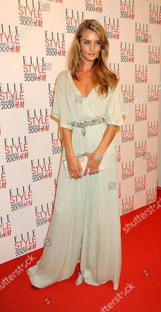 Stock Picture of Elle Style Awards 2009 in Association with H&m at the Big Sky Studios Rosie Huntington-whitley