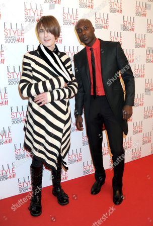 Stock Image of Elle Style Awards 2009 in Association with H&m at the Big Sky Studios Gareth Pugh and Oswald Boateng