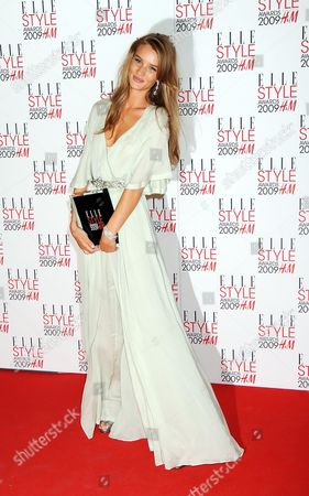 Stock Photo of Elle Style Awards 2009 in Association with H&m at the Big Sky Studios Best Model - Rosie Huntington-whitley
