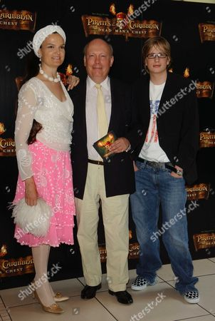 European Premiere of 'Pirates of the Caribbean - Dead Man's Chest' at the Odeon Leicester Square Julian Fellowes with His Wife Emma Kitchener-fellows and Their Son