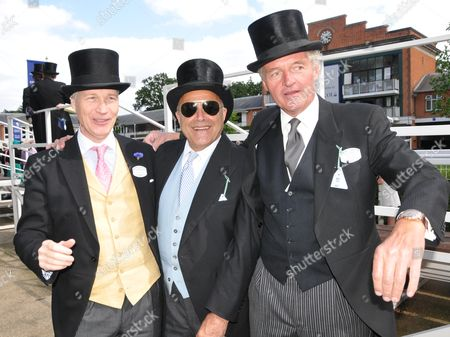 First Day of Royal Ascot 2010 at the Ascot Racecourse Ascot Berkshire Richard Kay Taki Theodoracopulos and Baron 'Bolla' Leopold Von Bismarck