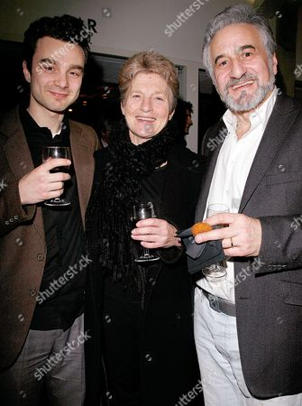 First Night For 'Duet For One' at the Almeida Islington Henry Goodman with His Wife Sue and Their Son Ilan