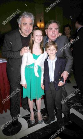 First Night Party For 'Whistle Down the Wind' at the Langham Hilton Hotel Bill Kenwright and Lord Andrew Lloyd Webber with Laurence Belcher and Emma Hopkins