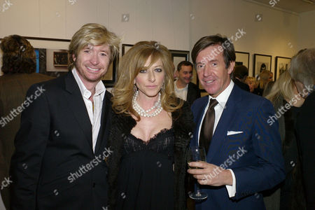 Flowers in A Dark Room Private View at La Galleria Pall Mall London Nicky Clarke & Kelly Hoppen with the Photographer John Stoddart Who Private View is Was