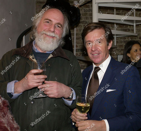 Flowers in A Dark Room Private View at La Galleria Pall Mall London Mick Fleetwood & the Photographer John Stoddart