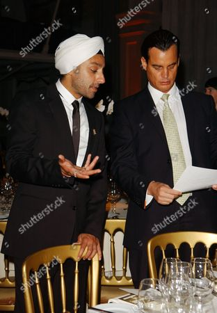 The First Summit For 'Fortune Forum' at Old Billingsgate Walk Vikram Chatwal with Matthew Mellon
