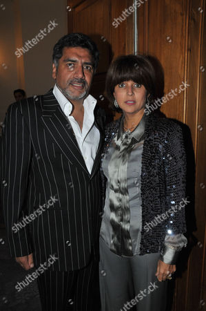 Fortune Forum Dinner at the Dorchester Hotel James Caan with His Wife Aisha Caan