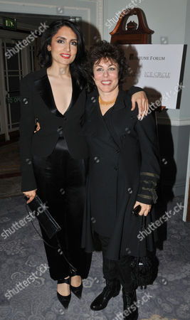 Fortune Forum Dinner at the Dorchester Hotel Renu Mehta and Ruby Wax