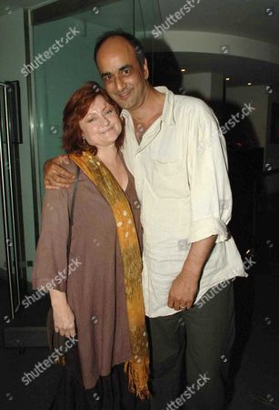Stock Picture of Cast Change at Guys & Dolls the Piccadilly Theatre Denman Street & Afterparty at Floridita Wardour Street London Art Malik Withy His Wife Gina Rowe