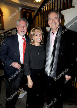 Hatchards Authors of the Year Party at Their Shop in Piccadilly London Richard 7th Earl of Bradford Claire Francis and Giles Brandreth