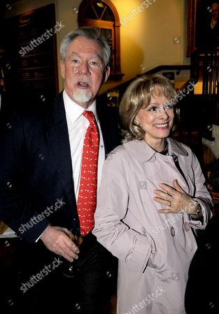 Stock Image of Hatchards Authors of the Year Party at Their Shop in Piccadilly London Richard 7th Earl of Bradford with Claire Francis