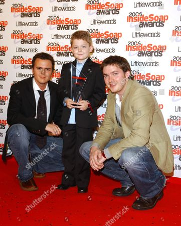 The 2006 Inside Soap Awards at Floridita's Wardour Street Darren Jeffries Ellis Hollins (award For Best Young Actor) and Matt Littler